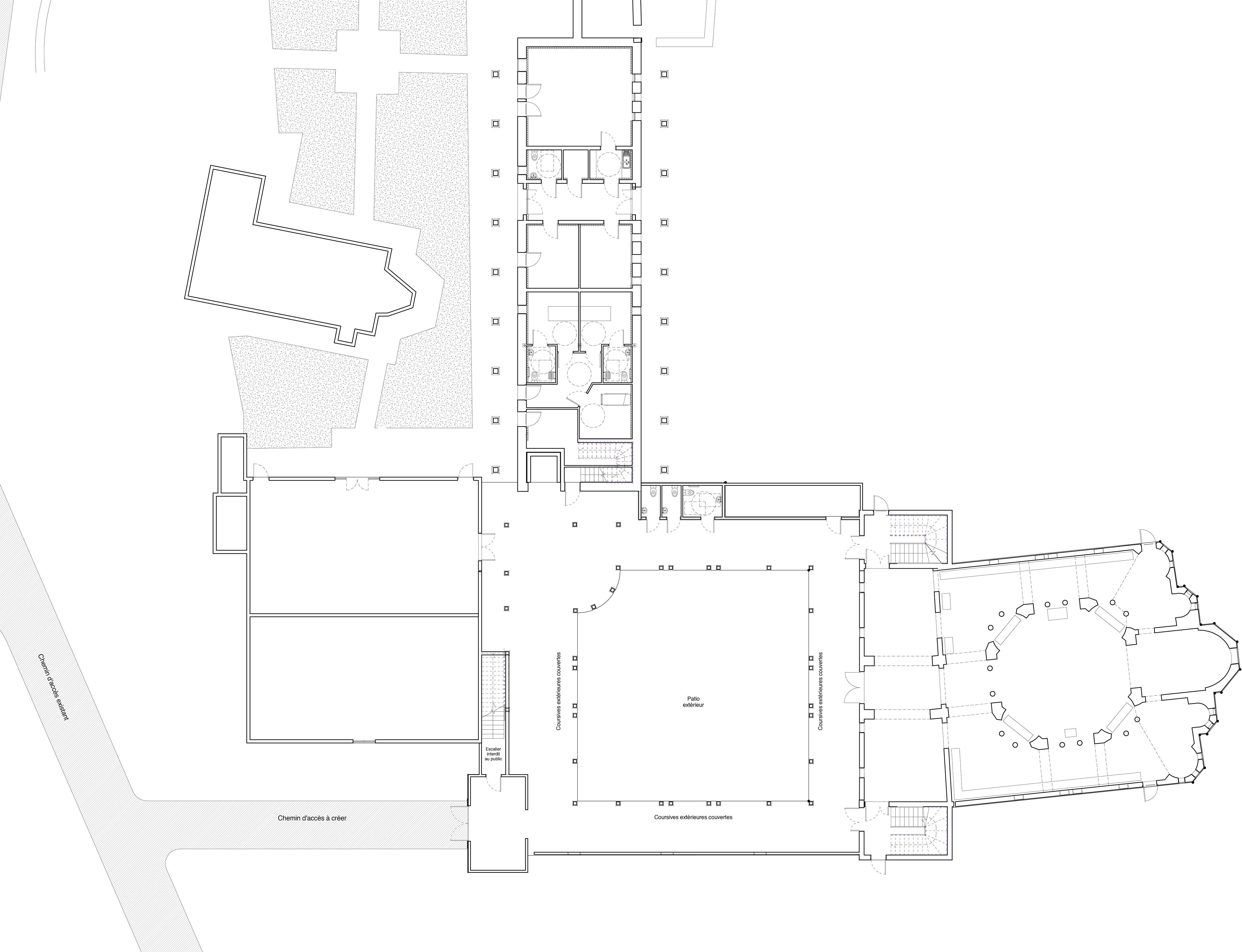 Plan de la nouvelle église