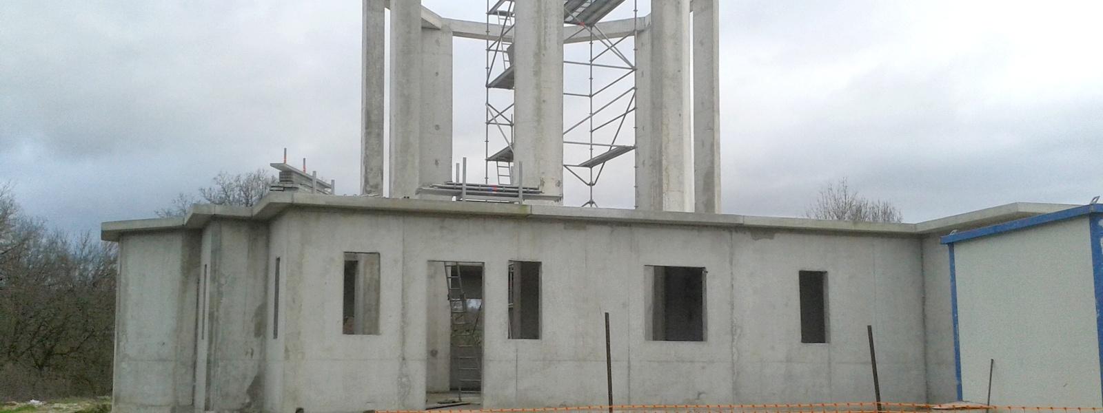 Travaux construction nouvelle église en 2015