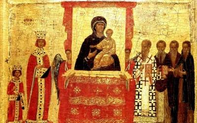 Icône du triomphe de l'Orthodoxie