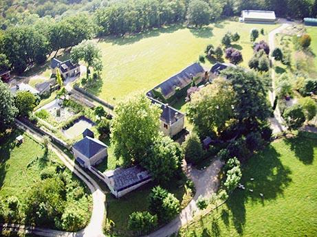 Vue aérienne du monastère